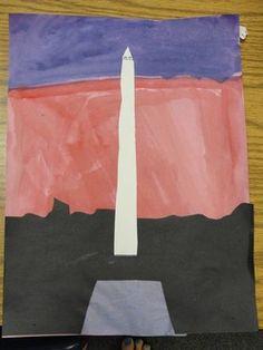 Washington Monument craft for American Symbols