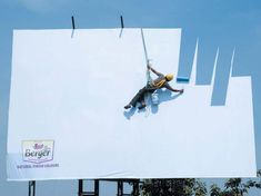 bergey sky branding design, optical illusions, sky, true colors, natural colors, blue, paint, funny commercials, shade