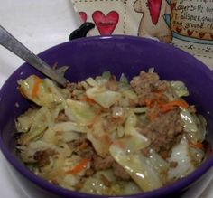 Quick Beef and Cabbage Skillet - dishing up