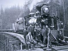 Railroad Construction Crew, 1886