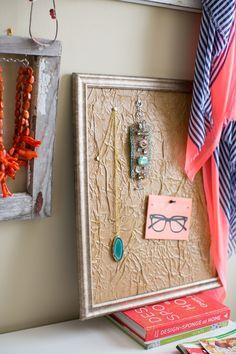 memo board, paper bags, frame mat, diy paper, bag frame