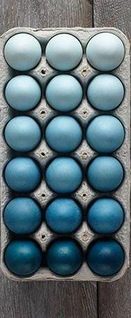 ombré easter eggs