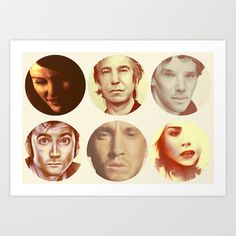 Famous Faces Art Print by HYRenee - $14.00