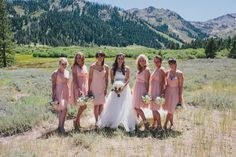 Pink bridesmaid dres
