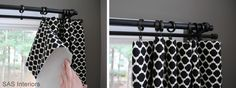 Easy DIY lined curtains