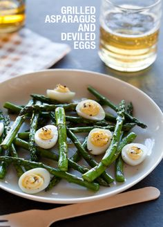 Grilled Asparagus and Deviled Eggs / Spoon Fork Bacon #food