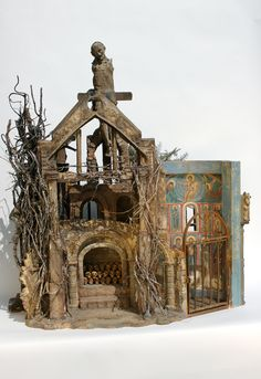 diorama - abandoned church