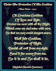 Under the protection of the Goddess...