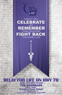 Tonight I will celebrate life, remember those fallen and fight back for those I love.  - relaywallpaper.blogspot.com