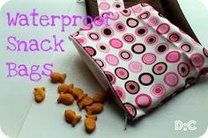 waterproof snack bags