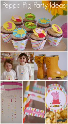 Peppa Pig party ideas, perfect for a girl birthday! See more party ideas at CatchMyParty.com.