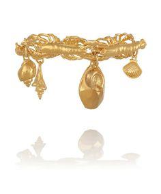 Virzi + De Luca Lobster Ocean gold-plated charm bracelet