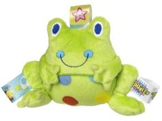 Taggies Rattle, Spotted Frog by Taggies. $8.99. Taggies are adorned with patented looped ribbon tags that babies love to explore and rub. Made with ultra-soft microfiber fabric with embroidered face. Spotted frog rattle measures 6'' tall. Mary Meyer products are all made to strict quality standards to meet or exceed us toy safety requirements. Perfect size and shape for little hands to shake. Decorated with a spotted frog plush toy and featuring a silky soft underside a...