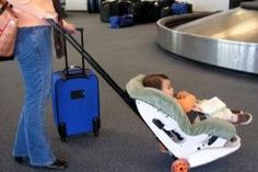 The gogo Kidz Travelmate is a safe and convenient attachment to your car seat for all you traveling mamas. Clever!