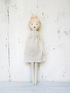 Rag doll, handmade, one of a kind/ Dina. $110.00, via Etsy.