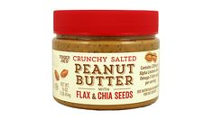 Trader Joe's Crunchy Salted Peanut Butter with Flax and Chia Seeds: a breakfast of omega-3-powered peanut butter (with no added sugar or fats) shmeared on a whole-grain Ezekiel English muffin makes mornings shine!