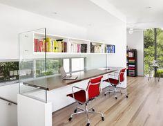 Bouldin Creek Courtyard House modern home office
