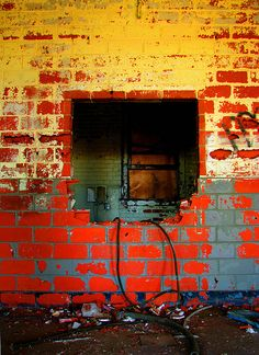 yellow and red wall
