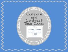 $ Compare and Contrast Task Cards