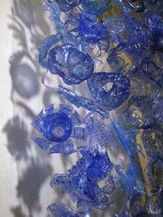 Arctic Garden: Sculpture using reshape plastic bottles in plastics art  with Sculpture Recycled Plastic design Bottle Art