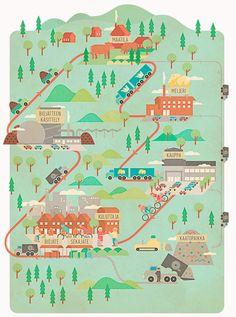 Vesa Sammalisto #VesaSammalisto #grafica #illustrazione #mappa #infografica