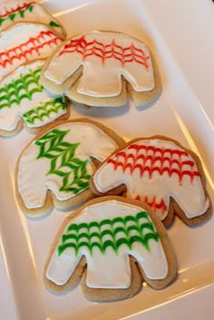 Ugly sweater cookies for an ugly sweater Christmas party