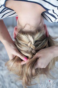 Hair Romance - upside down braid bun - how to