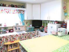 idea, bee, tabl tutori, sew room, craftroom, sewing rooms, craft room, sewing studio, sew studio