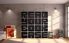 Typographical bookcase