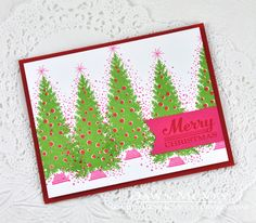 Merry Christmas Card by Dawn McVey for Papertrey Ink (September 2014)