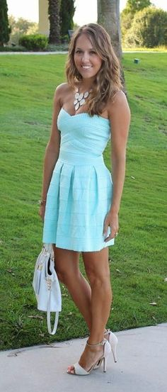 Gorgeous Mint Summer Dress