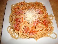Receta de spaghetti rojo comida mexicana