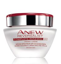 ANEW REVERSALIST COMPLETE RENEWAL Day Cream Broad Spectrum SPF 25 - Leaves skin looking renewed and hydrated throughout the day. Dramatically reduces the look of fine lines and wrinkles and restores the look and feel of youthful firmness. Regularly $32.00, buy Avon Anew Reversalist online at http://eseagren.avonrepresentative.com