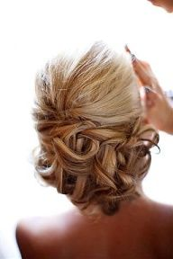 bridesmaid hair, project wedding, wedding updo, curl, prom hair