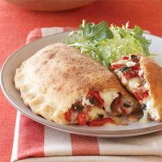 Red Pepper, Fontina, and Prosciutto Calzones | MyRecipes.com