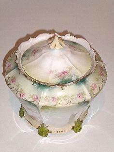 RS Prussia,  Ceramic Victorian Biscuit Jar