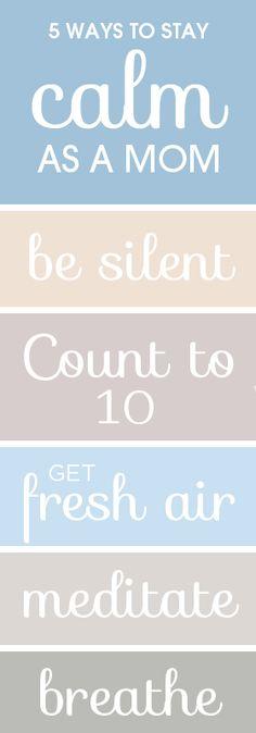5 ways to stay calm