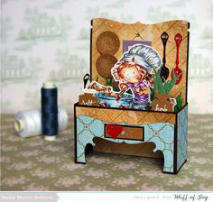 Lollyrot Scrapbooking: Cute Chef Stand up Card with tutorial and template.