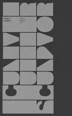 Cultur-sculpture #typography #design