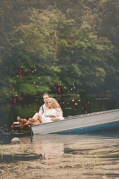 Magical engagement photo #engagement #boat
