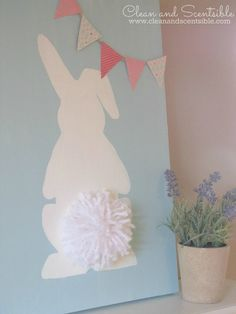 Easter Bunny Canvas - Clean and Scentsible