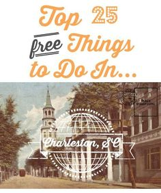 Even if you've been to Charleston, SC before, don't miss out on this list of top 25 FREE things to do.  Maybe you'll find some things you've never seen before!