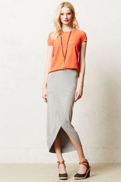 Draped Maxi Skirt