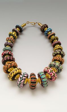 Single-Strand Necklace with Polymer Clay - Fire Mountain Gems and Beads