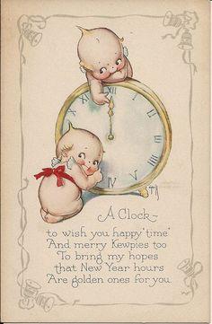 Kewpies and clock