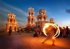 Participate in Burning Man in Nevada..