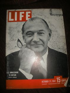 Vintage Life Magazine US Ambassador To Britain Lewis by AJRECORDS, $24.99