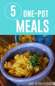 5 Dinners You Can Make Using Just One Pot http://onegr.pl/1xMIteD #vegan #easy