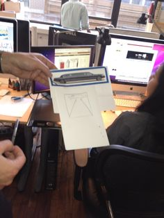 """A sketch for what will be a Paperless Post award show party invitation. They can't call it an """"Oscar"""" invite or they'll get in big trouble! Or so the sibling co-founders have been told by their counsel ... who is also their mom. Click through for the WSJ's behind-the-scene's look at Paperless Post."""