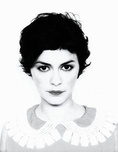 Audrey Tautou-short dark curly hair